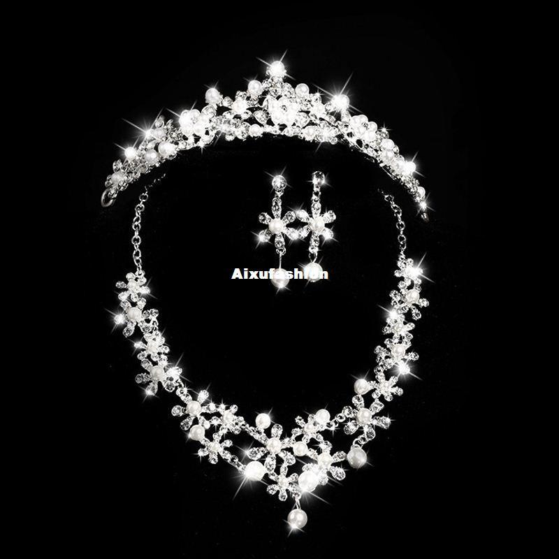 2017 New Top Quality Shiny BingBing Rhinestone Bridal Jewelry Sets Luxurious Crystal Wedding Jewelry Sets for Women Hair Accessories