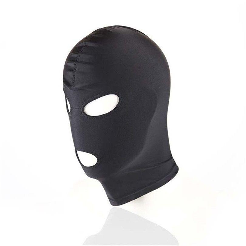 SM Hood Mask Black Mask Sex Producto Boca Mujeres BDSM para Hombres Hombres Fetiche Bondage Toy Eye Slave Adult Game RWSPT