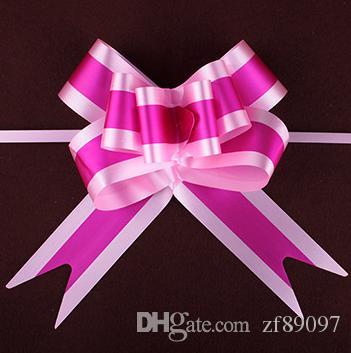 свадебный цветок украшения свадебный автомобиль цветочные украшения ленты тянуть цветок Луки