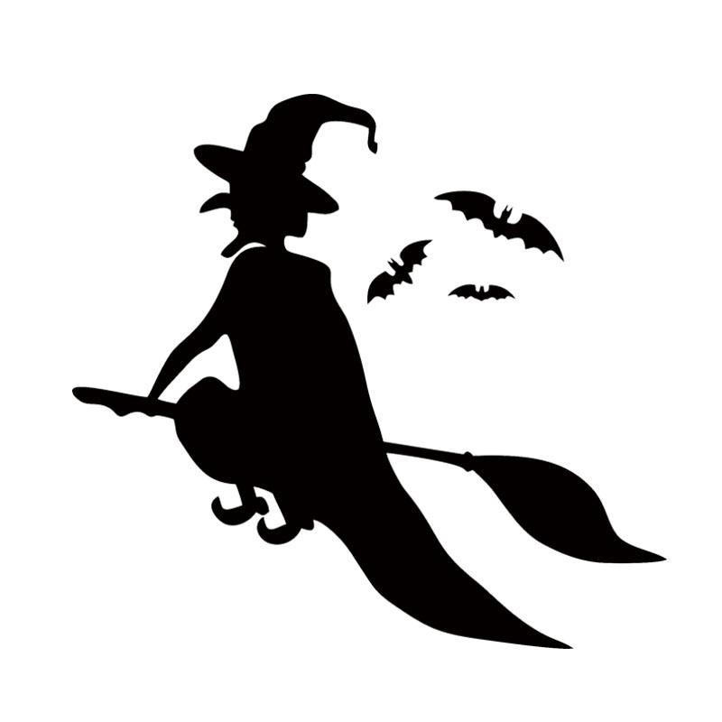 Nuovo stile Car Styling Halloween Flying Witches Car Decorative Vinyl Decal Decorative Jdm