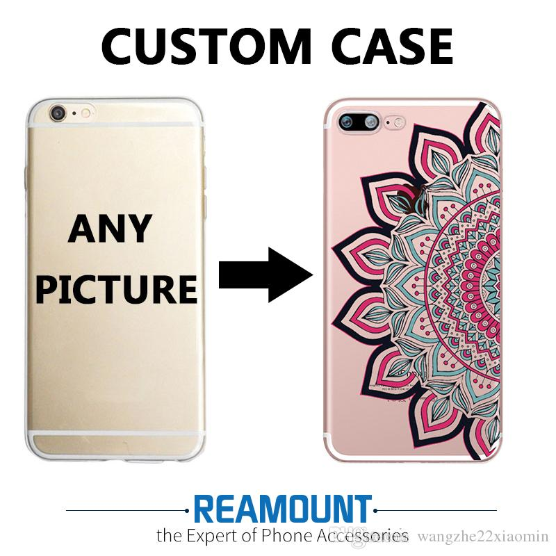 3D DIY Mandalas Custom LOGO & Picture Transparent Phone Back Cover ...
