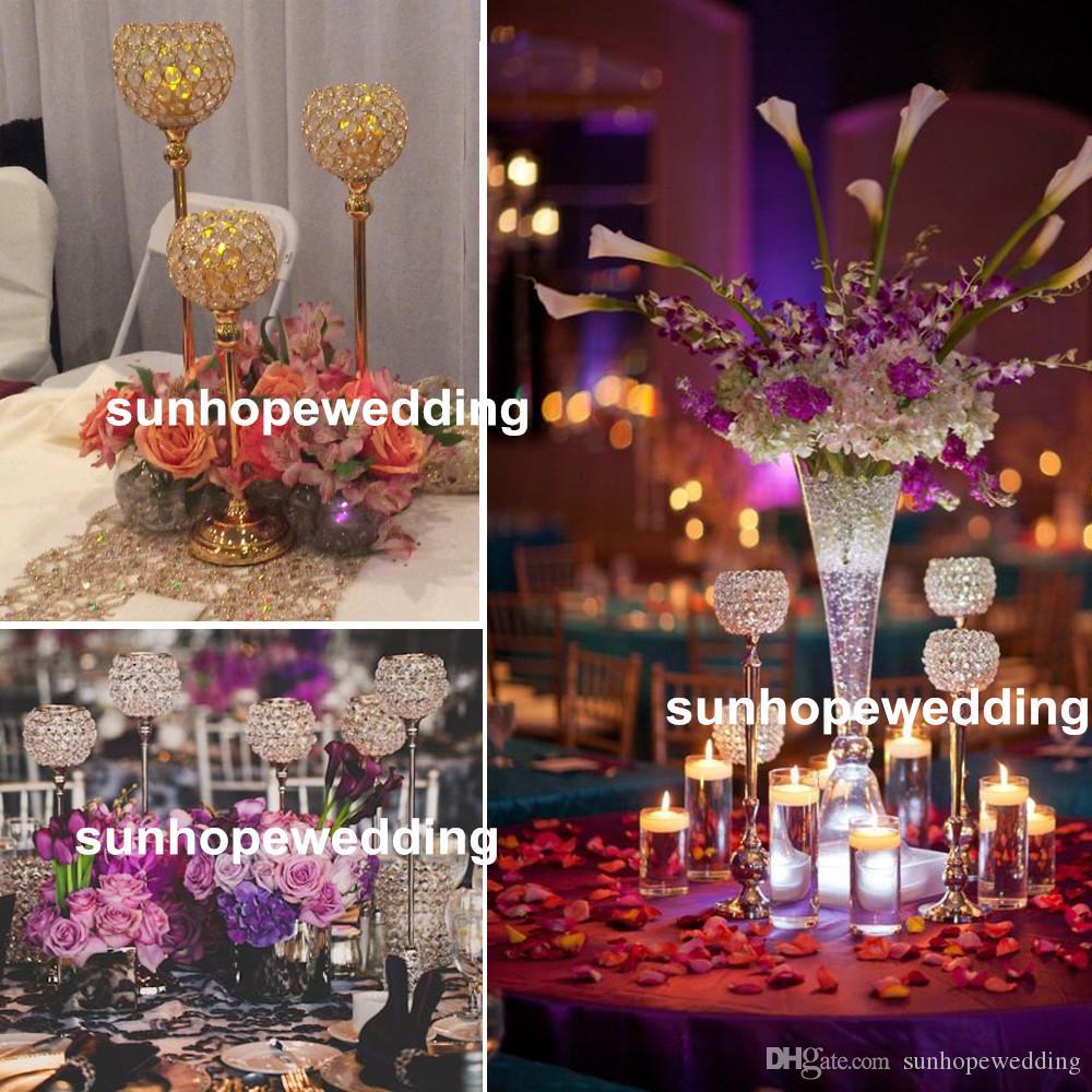 Silver Wedding Flower 111 21 Stand For Wedding Centerpiece Banquet Road Lead