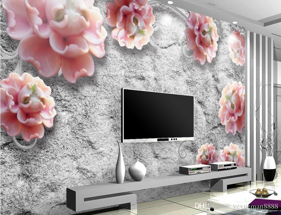 Wohnzimmer bilder fr hintergrund  Großhandel Luxus Gold Tapete Customized 3d Wandbild Metall Textur ...