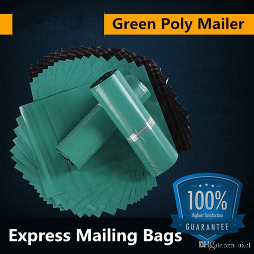 32x45cm Envoltorio de plástico de polietileno verde envasado en bolsas de plástico productos productos por correo Mensajería de almacenamiento envío por correo paquete autoadhesivo paquete Lote