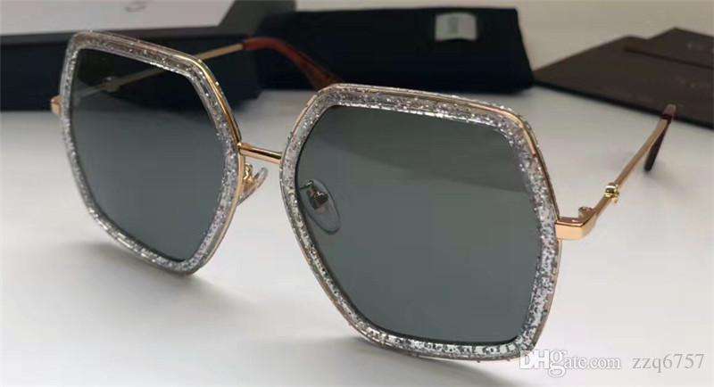 جديد مصمم أزياء النظارات الشمسية 0106 إطار غير منتظم أعلى جودة الصيف نمط حماية UV400 النظارات الجملة النساء شعبية