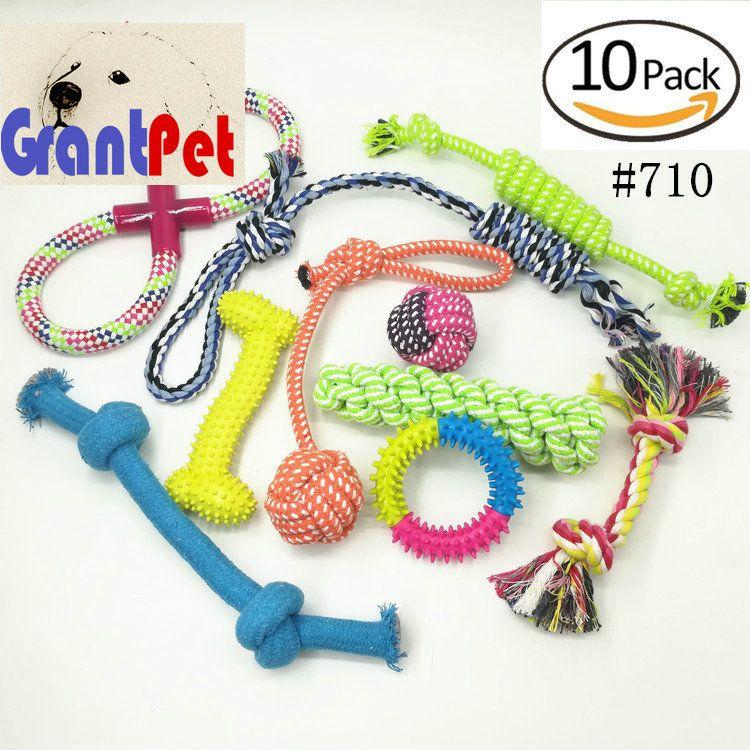 Kit da 10 pezzi Pet dog carrierPuppy Cotton Chewing Ball Bone Knot accessori per cani Giocattoli per cani da masticare aggressivi
