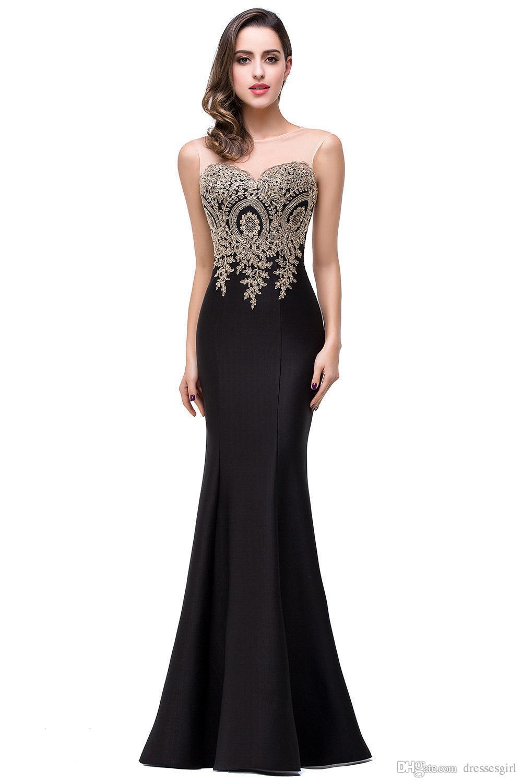 Cheap 2017 Cheap Evening Dresses Jewel Sleeves Floor Length ...