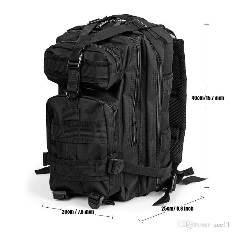 3P étanche tactique camouflage sac, hommes femmes armée militaire randonnée trekking sac à dos 600d nylon camping escalade sport sac