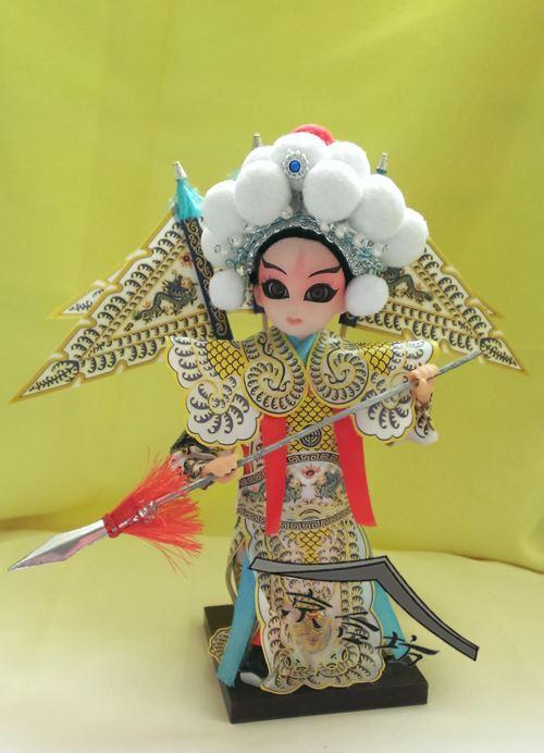 Spedizione - Opera di Pechino Yang Zongbao Pechino cartoni animati seta bambola del fronte di modello giocattoli * regali stranieri per inviare gli stranieri