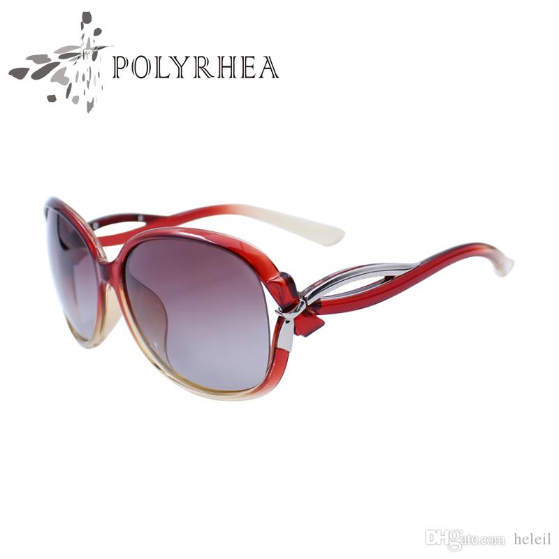 Frauen-Marken-Designer-Sonnenbrille-im Freiensport-Sonnenbrille-Retro- moderne polarisierte Sonnenbrille, die UVstrahlschutz mit Kasten und Fall fährt