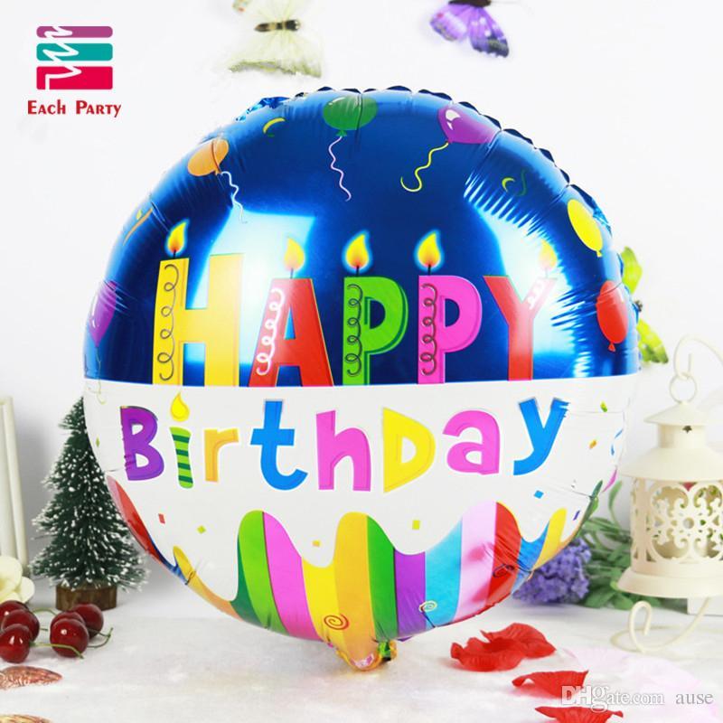 18-дюймовый день рождения сердце воздушные шары из алюминиевой фольги воздушные шары с Днем рождения украшения дети гелиевые шары праздничные принадлежности