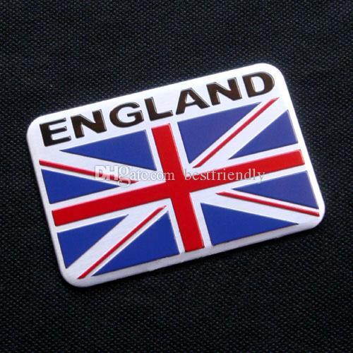 100pcs Hot Selling Mix Flag Aluminium Alloy 3D Car Badge Emblem Klistermärke Emblem Märken Österrike Flagga Klistermärke Italien