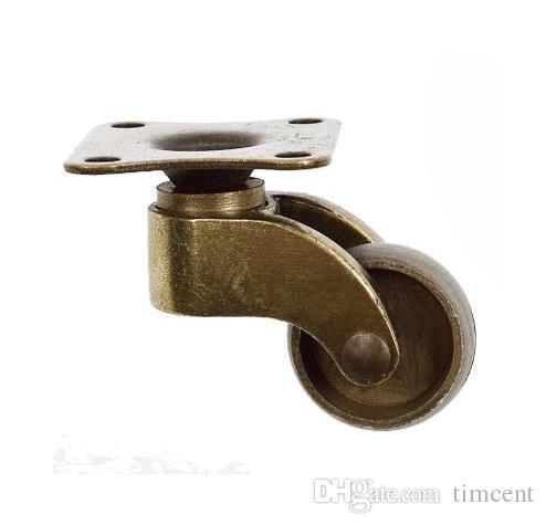 Diametro ruota 4PCS / LOT: 26mm bronzo antico Vintage europeo ruote girevoli mute puleggia divano universale