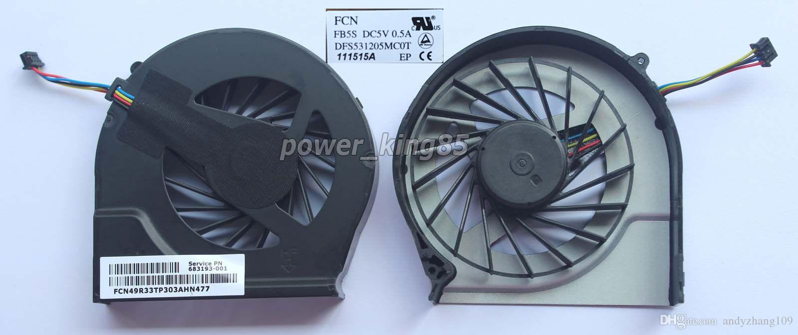 HP Pavilion G4 G4-2000 G7 için yeni orijinal FAR3300EP G7-2000 G6 G6-2000 CPU soğutma fanı 4 pins 683193-001