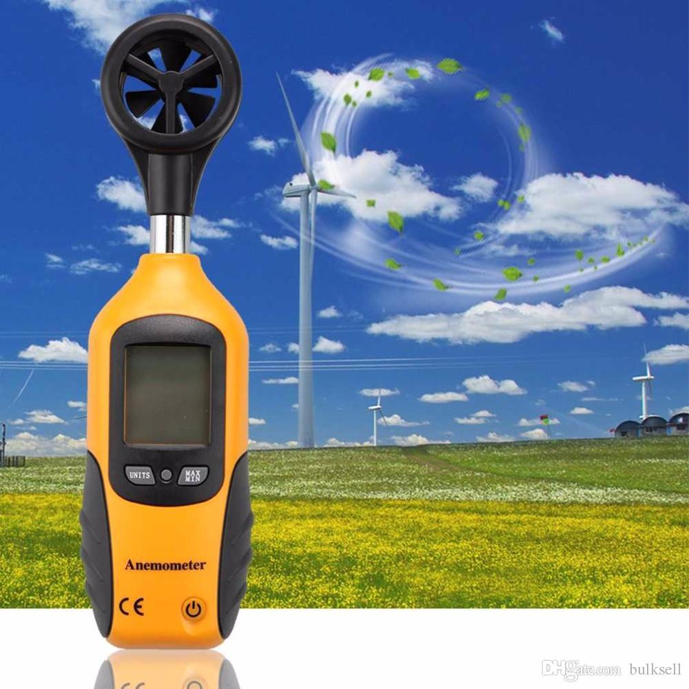 전문 HT-81 핸드 헬드 포켓 크기 LCD 스크린 디스플레이 디지털 풍속계 풍속 측정 도구