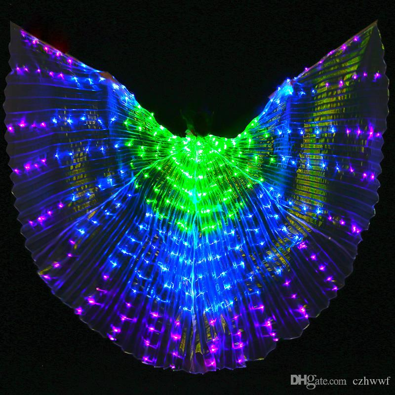 2019 New Performance Prop Women Dance Accessories Girls DJ LED Wings Light Up Wing Costume LED Butterfly Wings