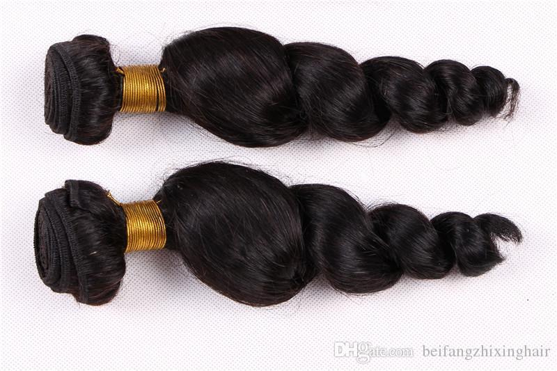 9A Non Transformés Péruviens Indiens Malaisiens Remy Vierge Extensions De Cheveux Naturel Couleur Vague Lâche Humaine Bundle Livraison Gratuite
