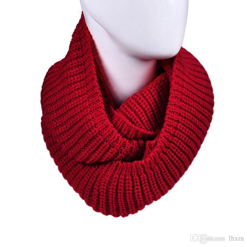 Marka-Yeni marka 2015 Moda Bayan Kış Sıcak Infinity 2 Daire Kablo Örgü Yüzük Boyun Eşarp