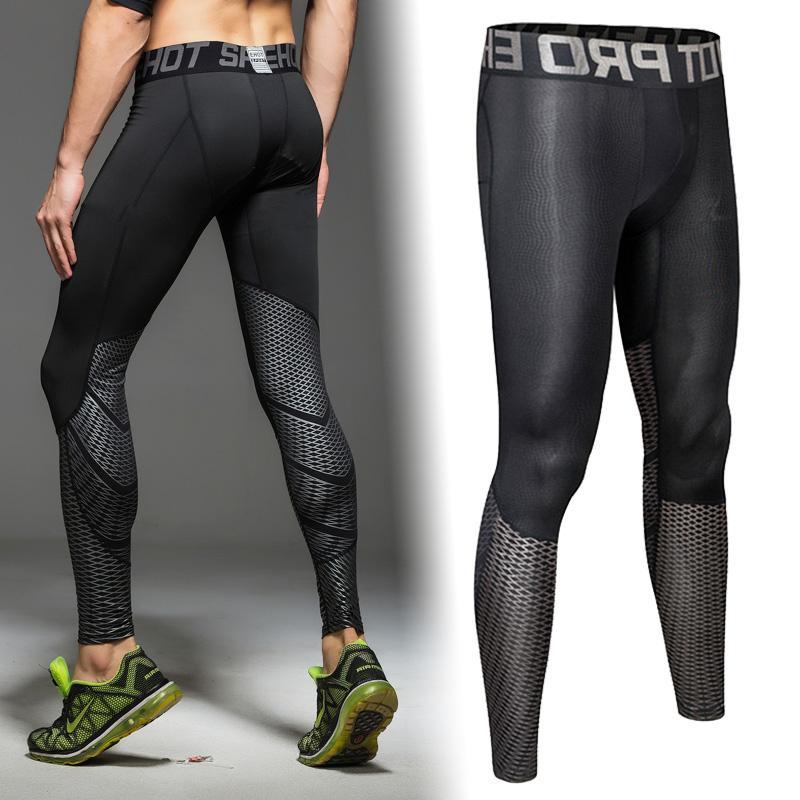 Męskie Sporty Sporty Spodnie Spodnie Running Joggers Skinny Legginsy Trening Fitness Rozciąganie 3D Drukowanie cyfrowe Szybkie suche spodnie