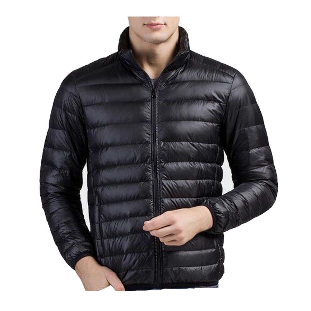 Kış Aşağı Ceketler Klasik Erkekler Ceket Işık Standı Yaka Ince Sıcak Fermuarlar Coat Parkas Dış Giyim Palto Çevrimiçi Yüksek Kalite