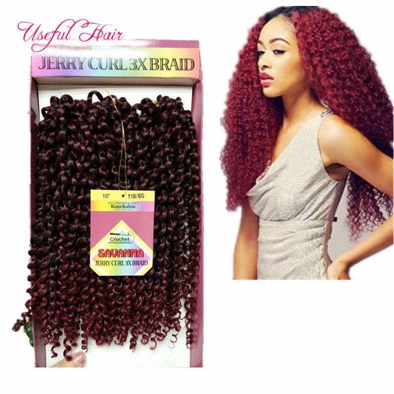 MARLEY TWIST SAVANA MAMBO OMBRE CROCHET HAIR EXTENSIONS CHRISTMSA braid in bundles 10INCH DEEP WAVE crochet braids hair FOR BLACK WOMEN