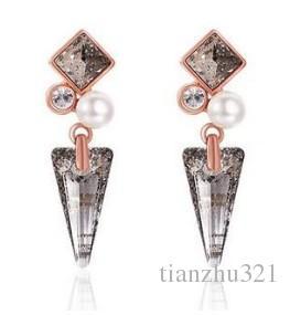 diamante traga de brincos do ady da forma da estrela (yt-jd)