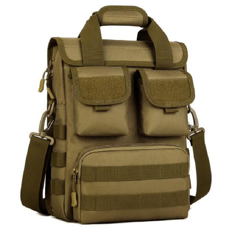 Wholesale Tactical Travel Laptop Bag Tote Durable Men Crossbody Hike Messenger Bag Molle Woodland Sustainment Free Shipping