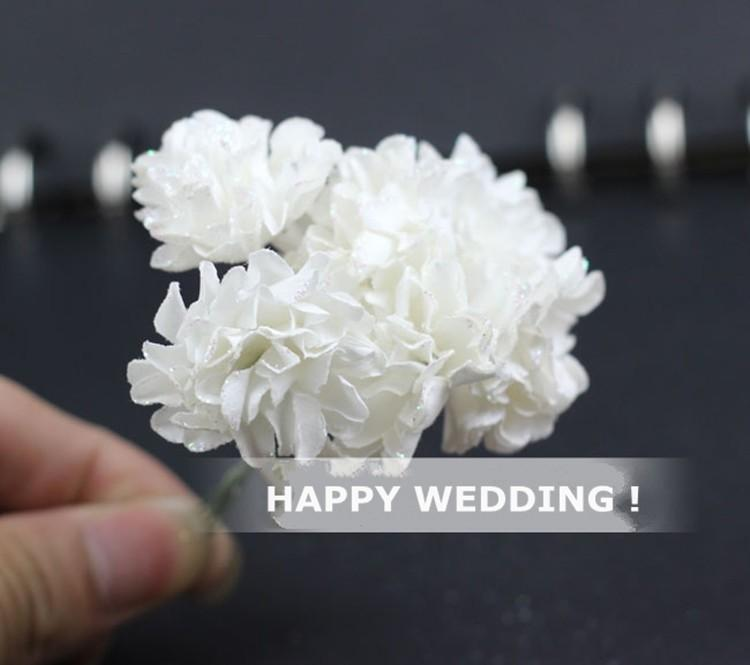Artificial Paper Bouquet flower for Wedding Decor Candy Box Flowers Accessories for Table Centerpieces 144pcspack (7)
