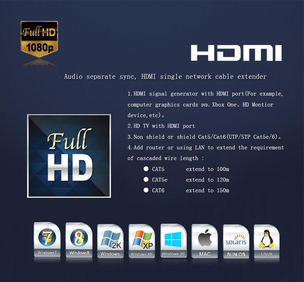 Wireless HDMI Extender IR Support 1080P extend up to 300m maximum indoor and 3KM maximum outdoor Wireless HDMI Extender 5.8GHZ (6)