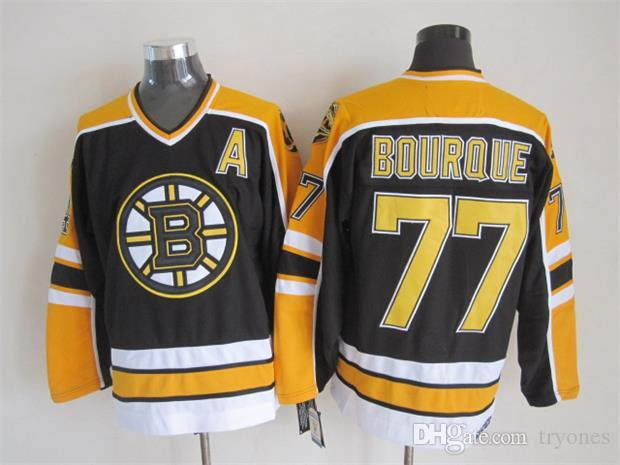 38863e1f1 ... Throwback Boston Bruins Ray Bourque Hockey Jerseys 1992 CCM Vintage 77  Ray Bourque Jersey 75th Anniversary ...