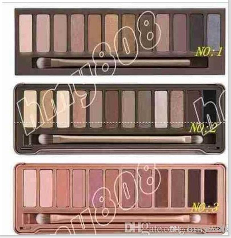 Ücretsiz kargo düşük fiyat sıcak Makyaj YOK # 2 yeni ambalaj 12 renk göz farı / göz farı paleti (30 adet)