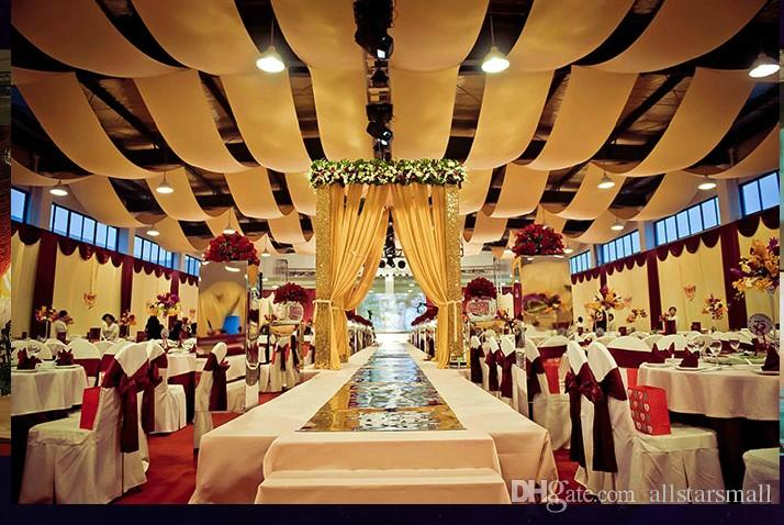 """59"""" w* 30' L (1.4m W* 100 m L) Colorful Sheer Ice Silk Ceiling Drape Fabric for Wedding Party Decoration"""