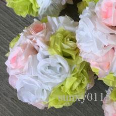 Yapay İpek Çiçek Topu Düğün Centerpiece Pomander Buket Düğün Gül Top Parti Dekoratif Çiçekler Için Karışımı Renk