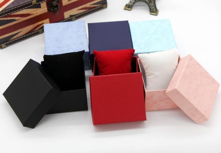 12PCS Uhrenbox Elegante Geschenkbox für Männer Frauen Uhren Verpackung Hartpapier Boxen 3 Farben Rot Blau Schwarz
