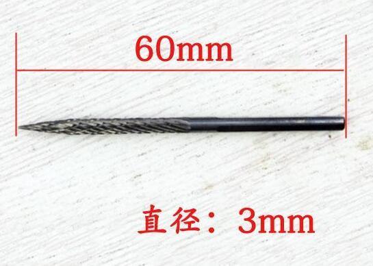 3mm Hartmetallbohrer // Langlebiger Gute Qualität Reifenreparatur mit Pilzstopfen Luftreifenbohrer