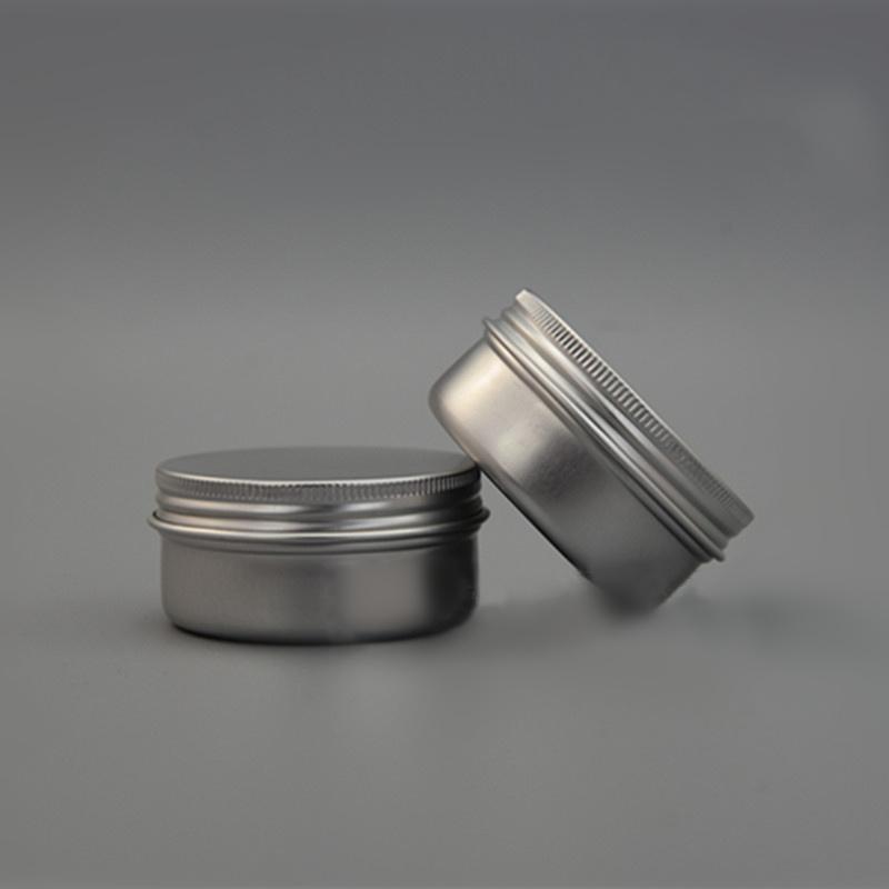 50g Aluminum Jar Refillable Cosmetic Lip Oil Bottle Empty Batom Eye Cream Wax Tin Screw Cap Containers
