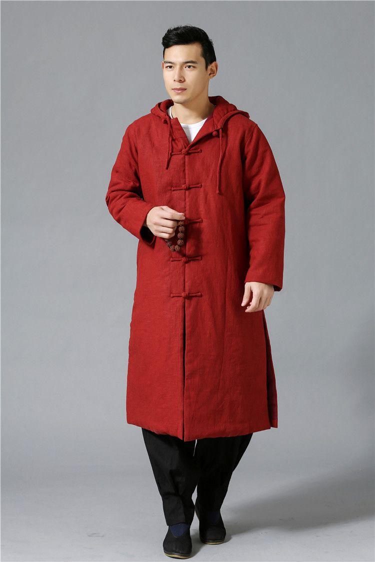بالجملة، أروع العرقي اتجاه الموضة معطف ثقيل الرياح معطف واق من المطر mianyiwaitao سترة طويلة خندق معطف الرجال معطف زائد حجم 6colors