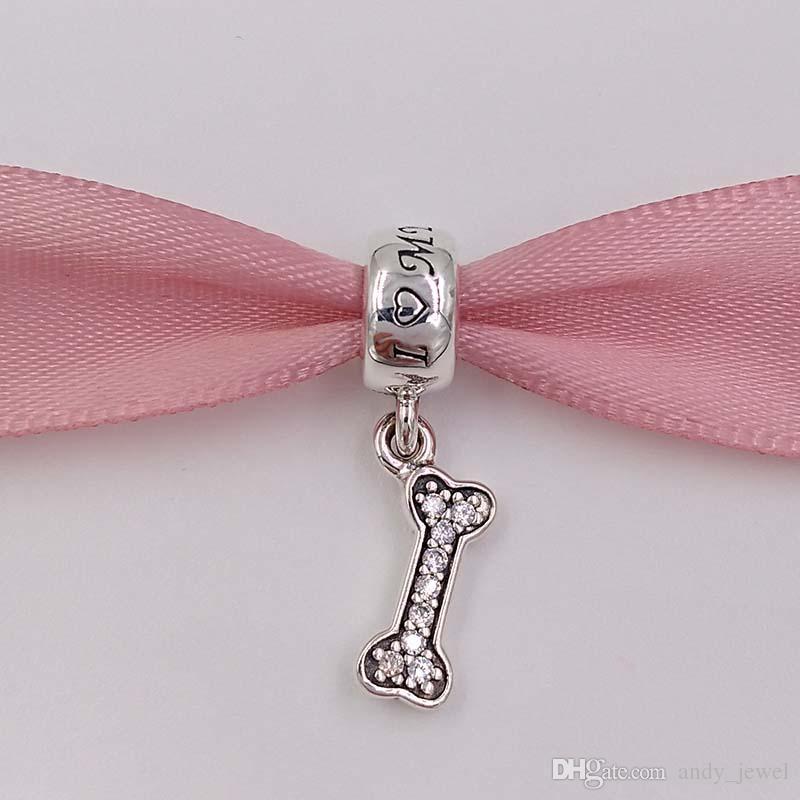 Genuine S925 Sterling Silver Beads Sterling Silver I Love My Dog Dangle For European Brand Bracelets 925 ALE