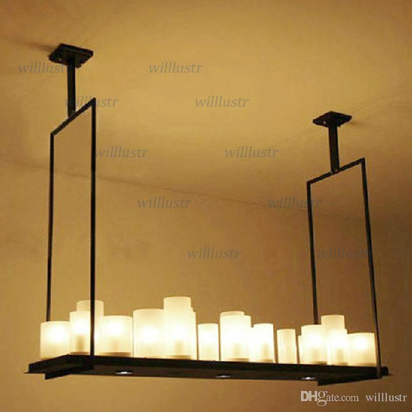Moderno Kevin Reilly sospensione Lampada candela ciondolo LED luce metallo innovativo telecomando apparecchio retro candela sospensione