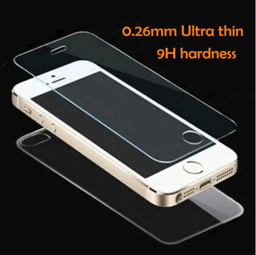 2pcs/set front+back Tempered Glass For iPhone 5 5S 6 6s 7 plus 4 4S Screen Protector Film Full Body Glass