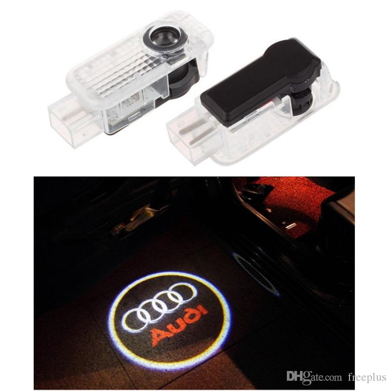 2pcs/set Car LED Door Welcome Light Laser Shadow led Projector Logo For Most AUDI And Universal Car