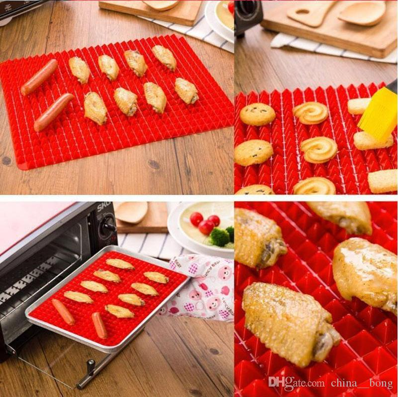 food grade Pyramid Bakeware Pan Nonstick Silicone Baking Mat Pads Easy Method for Oven Baking Tray Sheet Kitchen Tools 40.5*29 cm DHL