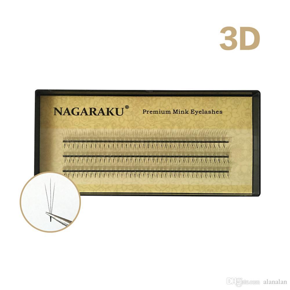 NAGARAKU 3D lashes W lashes individual eyelashes,Mink Eyelash Extension, Fake False Eyelashes