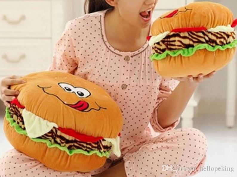 Netter Hamburger Plüsch-Kissen-Plüsch-Kissen-Kissen-kreative Weihnachtsgeschenk