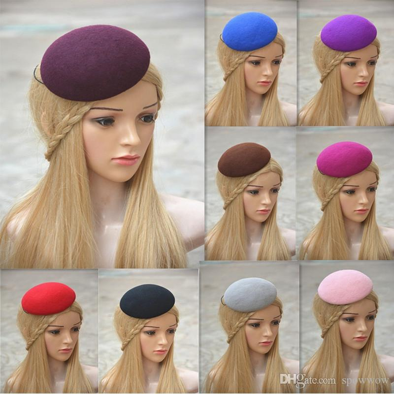 Circle Wool Felt Pillbox Beret Hat Millinery Fascinator Base Cocktail Party Hat DIY Craft Making A263