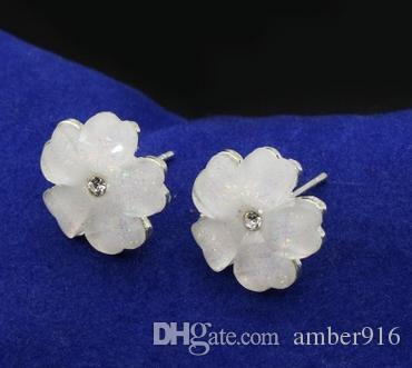 Südkorea Koreanische Ausgabe exquisite Kristall Ohrring schöne Kristall fünf Blatt Ohrring jewery Mode Ohrringe stub