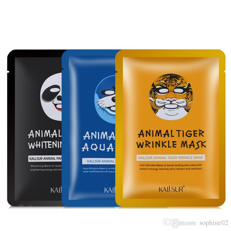 3 в 1 Панда уплотнения тигра сочетание животных маска влаги, чтобы нести яркий цвет кожи против замедления провал лицо пленки