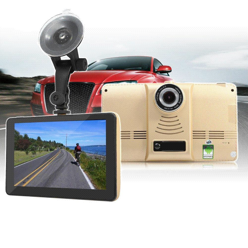 7 inch Android 4.4 901 Car Tablet GPS 170 Degree Wide Angle 1080P DVR Recorder With WiFi / 3G FM Transmitter