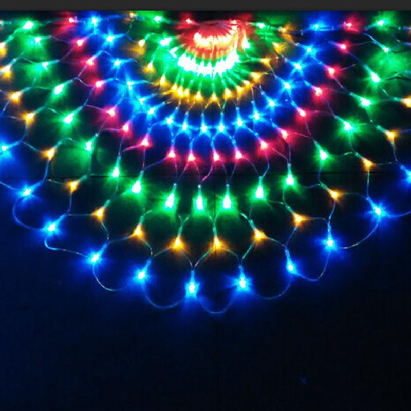 3m 492 LED Peacock LED Light String Christmas Wedding Party Decorations Curtain Background Fairy Light copper wire led 220V/110V
