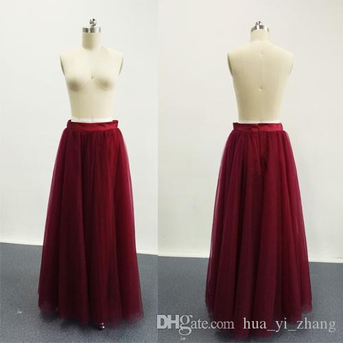Bridesmaid Tutu Skirts A Line Adult Burgundy 2016 Fashion Skirt New Arrival Party Casual Skirt Gowns